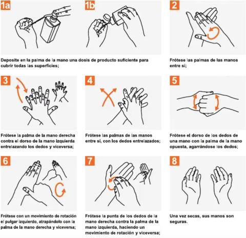 Cómo lavar las manos correctamente