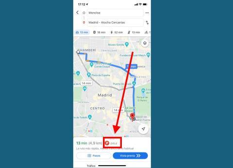 Conoce si te será difícil aparcar en Google Maps