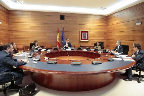 Consejo de Ministros telemático por el coronavirus.