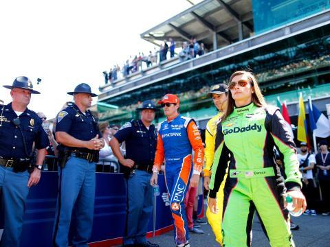 Danica Patrick en las 500 de Indianápolis en 2018.