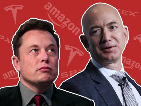 Elon Musk and Jeff Bezos have feuded over their respective space ambitions.