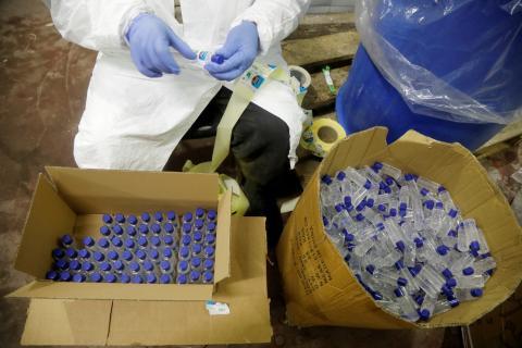 Fábrica de gel desinfectante
