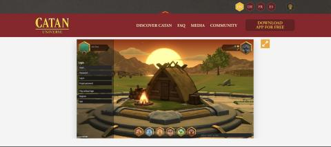 The opening screen of Catan Universe.