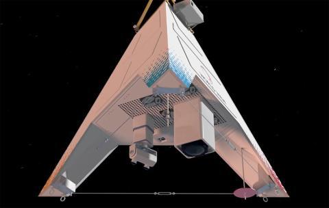 Una ilustración con las cámaras, sensores y otros instrumentos que se pueden montar en un Stratollite de World View.