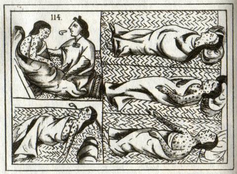 Ilustración de víctimas de viruela.