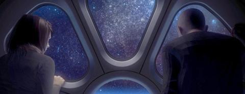 Imagen conceptual de turistas en el Voyager de World View.
