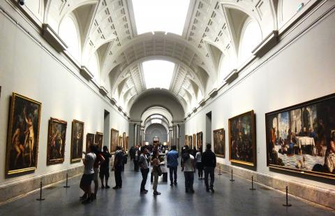 Interior del Museo del Prado.