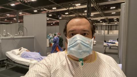 Jonan Basterra, paciente con coronavirus en Ifema.
