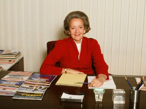 Katharine Graham del Washington Post, 1980.