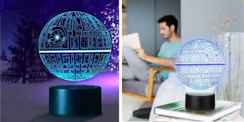 Lámpara Led 3D de la Estrella de la Muerte