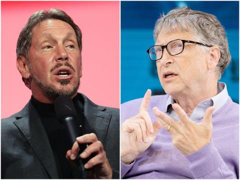Larry Ellison and Bill Gates