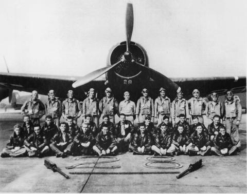 Retrato del legendario Escuadrón Perdido y del Vuelo 19 que supuestamente desapareció en el Triángulo de las Bermudas poco después de la Segunda Guerra Mundial.