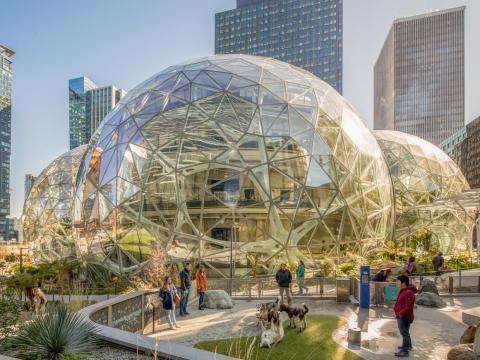 Esferas de Amazon, Seattle, Washington.