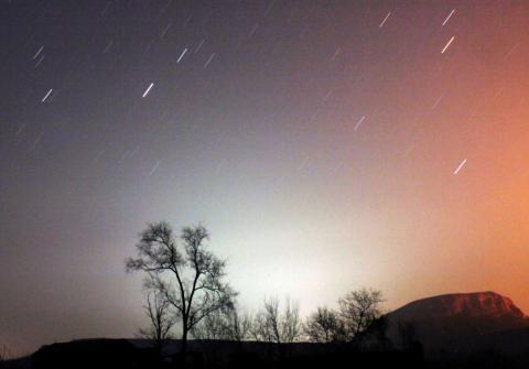 Lluvia de estrellas en China.