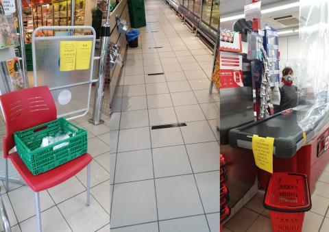Así son las medidas que toma este supermercado contra el coronavirus