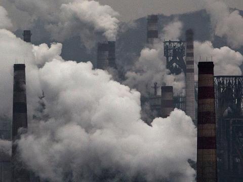 Contaminación del aire en China.