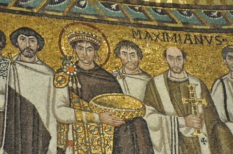 Mosaico del emperador Justiniano.