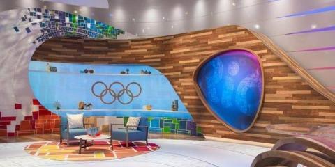 Un estudio de la NBC en los Juegos Olímpicos de 2016.