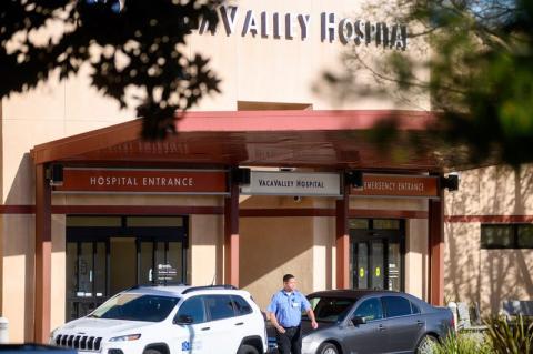 NorthBay VacaValley Hospital, donde una mujer diagnosticada con el coronavirus buscó tratamiento antes.