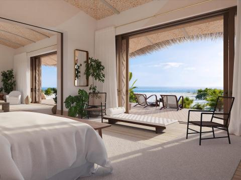 Objects for the interiors of the 12 bungalows across the resort and their facades will be 3D printed, along with coral reefs and marine habitats.