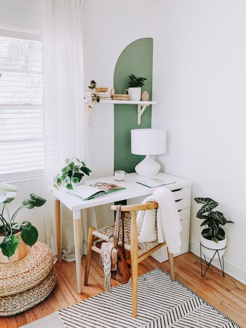 Los tonos verdes tienen mucha importancia.