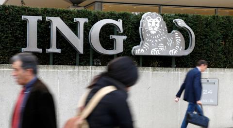 Oficinas del banco ING en Bruselas (Bélgica)