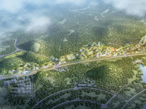 Representación de Lizhou Forest City.