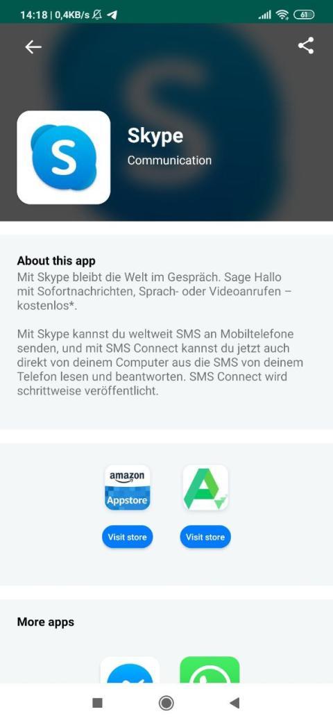 Pantallazo de Huawei AppSearch.