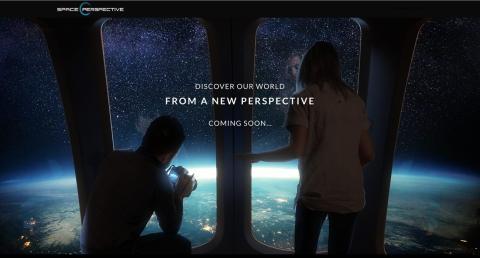 Pantallazo de TheSpacePerspective.com.