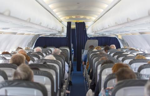 Pasajeros de un avión