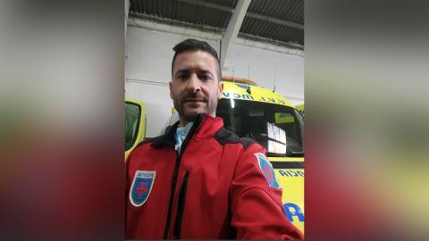 Pedro López, técnico en emergencias sanitarias desde 2011