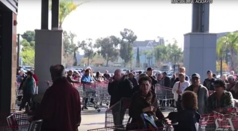 People have also been forming huge lines outside Costco and other large retailers to prepare for bulk purchases of toilet paper. Here's the line outside the Costco in Chino Hills.
