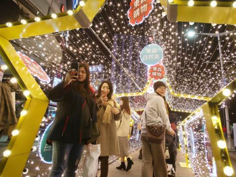 Personas en Taipei durante el Año Nuevo Lunar en febrero.