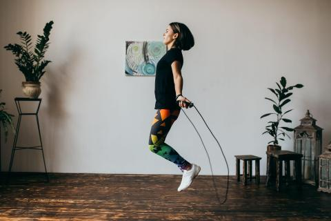 To help ease stay-at-home restlessness, take a solo walk or run or try some at-home workout plans.