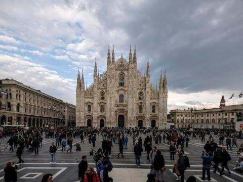 BEFORE: The Piazza del Duomo in Milan is one of the city's top attractions.