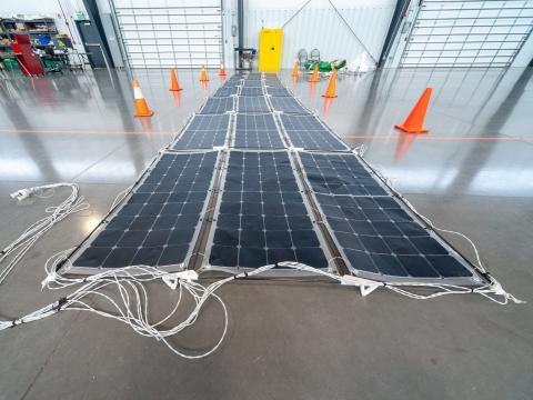 Placas solares de World View.