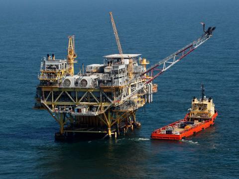 Plataforma petrolífera.