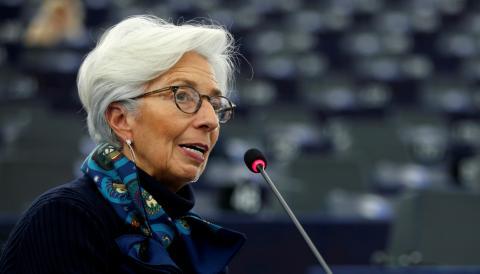 La presidenta del BCE, Christine Lagarde, comparece en la Eurocámara para hablar de las consecuencias económicas del coronavirus