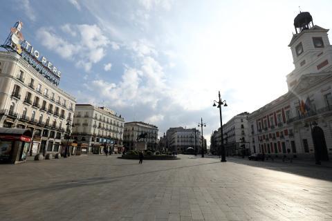 Primer día de estado de alarm: Puerta del Sol