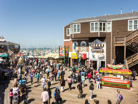 BEFORE: San Francisco's Fisherman's Wharf is one of the city's busiest tourist areas.