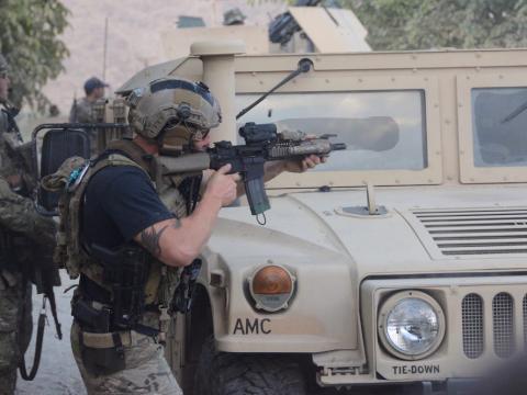 Un soldado estadounidense, en combate en un distrito de Afganistán, en octubre de 2016.