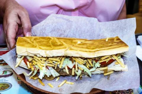 Sándwich cubano.