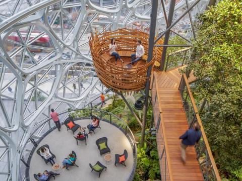 Esferas de Amazon en Seattle, Washington.