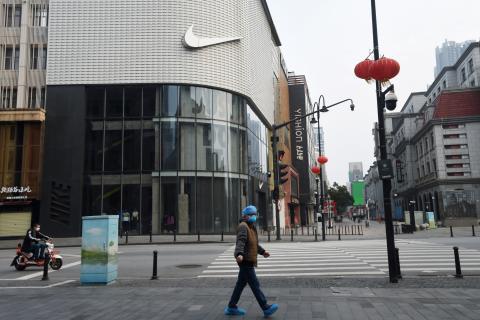 Tienda Nike cerrada coronavirus