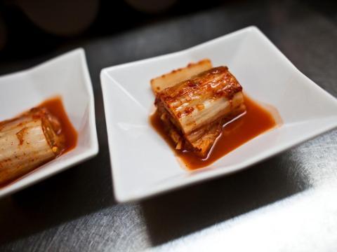 Kimchi, una comida tradicional coreana.