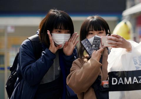 Turistas en Seúl, Corea del Sur.