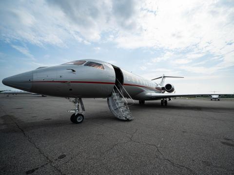 Un avión de VistaJet.