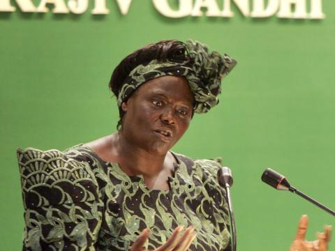 Wangari Maathai.