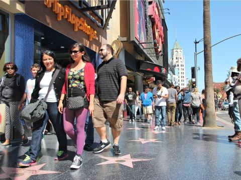 BEFORE: When in Los Angeles, the Hollywood Walk of Fame is a must-visit.