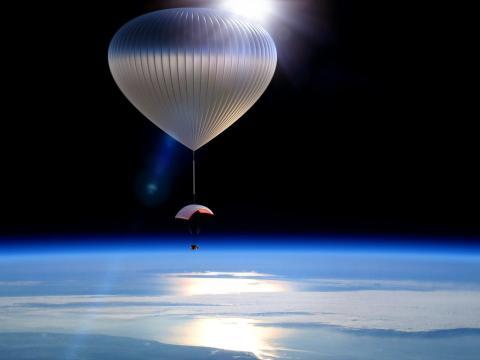 World View tendrá Voyagers colgando pacífica y silenciosamente de la estratosfera para experiencias de 2 horas.